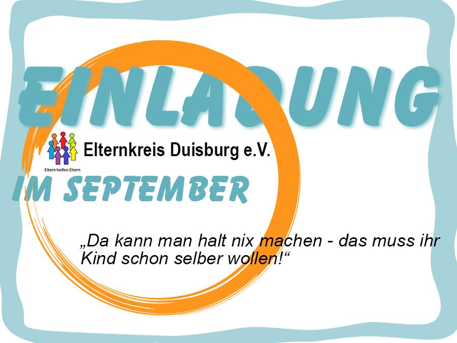 Elternkreis Duisburg läd ein
